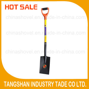 Fiberglass Handle and PP Grip Steel Shovel pictures & photos