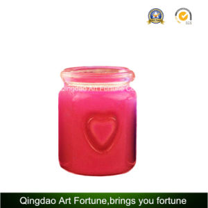 Heart Glass Jar Candle for Valentine′s Mother′s Wedding Decor pictures & photos