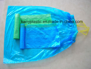Hot Sale Plastic Drawstring Bin Liner Rubbish Bags pictures & photos
