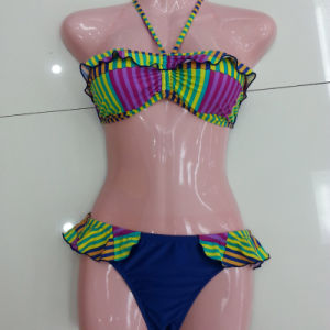 Ladies Lacy Bikini Swimwear, with Sexy National Flavor