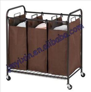 Better Homes and Gardens 3-Bin Laundry Sorter, Bronze (L2006)