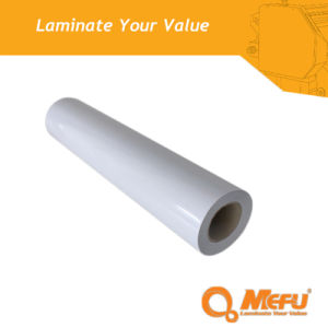 MEFU PVC Gloss Cold Lamination Film with Self Adhesive pictures & photos