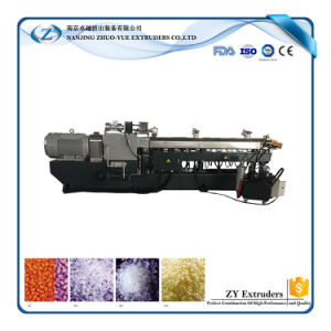 Zte Good Price ABS Plastic Pellets Twin Screw Extruder pictures & photos