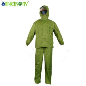 Waterproof Breathable 190t Nylon/PU Rainsuit pictures & photos
