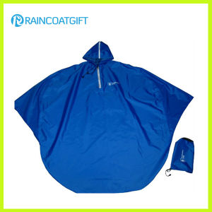 Blue Polyester PVC Motorcycle Rain Poncho pictures & photos