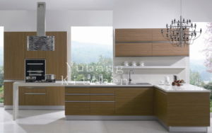Baked Paint Kitchen Cabinet (M-L82) pictures & photos