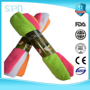 Different Colors Different Weights Microfiber Cleaning Towel pictures & photos
