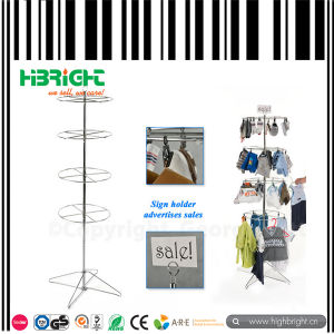 4 Tier Commercial Retail Rotating Wire Stand pictures & photos