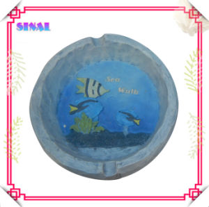 Hot Selling Resin Ocean Fish Ashtray for Personal Gifts with Advertisement