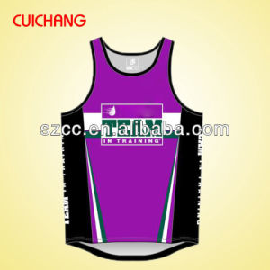 Wholesale Polyester Heat Transfer Printing Custom Design Gym Singlets Bx-042 pictures & photos