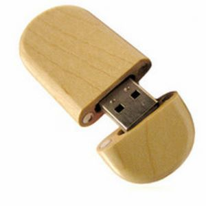Wooden USB Flash Disk, Customized Logo Design, 1GB Capacity pictures & photos