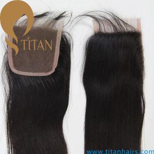 Brazilian Virgin Remy Human Hair Silk Lace Base Closure