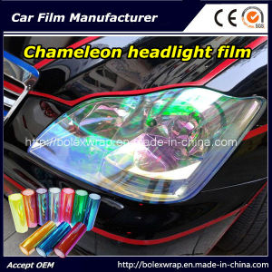 Chameleon Headlight Film, Color Change Car Light Sticker, Decorative Film 30cm*9m pictures & photos