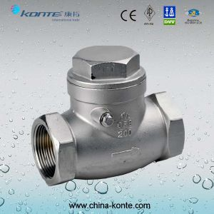 H14W Stainless Steel Threaded Swing Check Valve pictures & photos