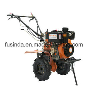 10HP 186f Electric Start Diesel Power Mini Tiller with Gear Driven pictures & photos