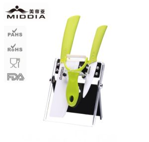 Ceramic Home Applance Kitchen Knives Set with Peeler pictures & photos