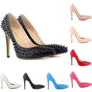 Fashion Rivet Matt Leather Women High Heels / Shoe