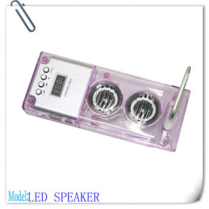 LED Light Mini Speaker with FM Radio, TF Card, USB