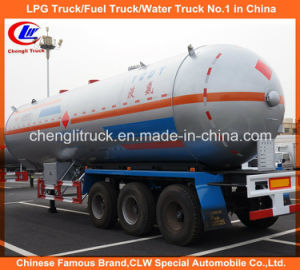 Heavy Duty 3 Axles LPG Tank Truck Trailer for Propane pictures & photos