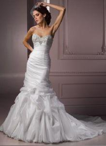 Sweet-Hear Neckline Ruffles Marriage Dress (Z-151)