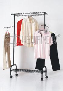 DIY Clothes Single -Rod Metal Hanger Rack /Drying Rack (CJ-B1127) pictures & photos