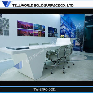 Modern Design Cured High Gloss White Office Desk for Office Furniture pictures & photos