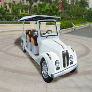 White 8 Seaters Electric Classic Sightseeing Car for Sale pictures & photos