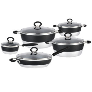 Fashion Hot Sale Aluminum Cookware Set with Non-Stick Coating pictures & photos