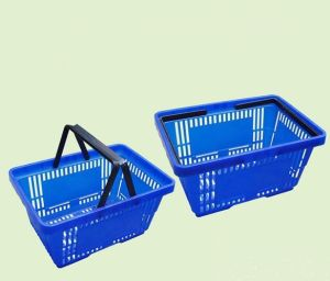 Supermarket Store Plastic Shopping Basket pictures & photos