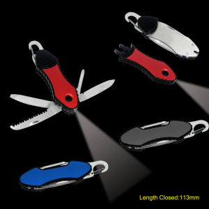 Pocket Knife with Detachable LED Torch (#6158) pictures & photos