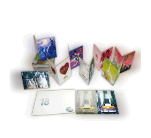 Greeting Cards/Paper Brochure /Post Cards Customized Accept pictures & photos