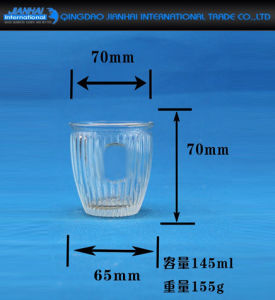 Bowl Shape Glass Container Candle Holder for Decorations pictures & photos