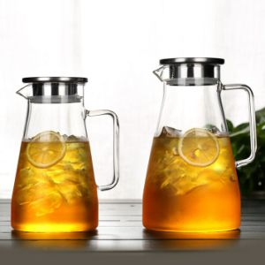America Popular Glass Pitcher Coffee Maker Tea Set with Pot pictures & photos