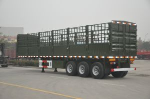 Wallside Truck Semi Trailer/Carbon Steel Wall Side Semitrailer pictures & photos