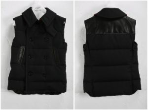 Black Men′s Vest Duck Down-Padded (W8)