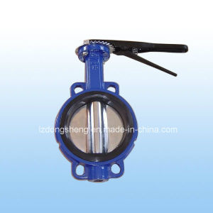 Cast Iron Wafer Type EPDM Seat Manual Butterfly Valves pictures & photos