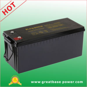 12V 200ah Electric Vehicle Deep Cycle Battery pictures & photos