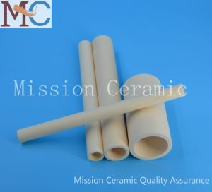 Ivory Cylindrical Industrial Alumina Ceramic Tube pictures & photos