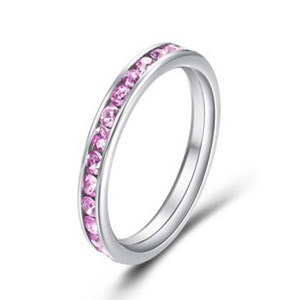 2013 Charming Ring/Stainless Steel Ring /Rhinestone Ring Jewelry (RD-JSR0001)