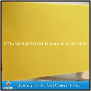 Pure Quartz Color Yellow Artificial Quartz Stone for Kitchen Countertop pictures & photos