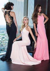 2017 New Designer Elegant Sheath One Shoulder Sweetheart Zipper Back Floor Length Long Chiffon Bridesmaid Dress Adult (MN1305)