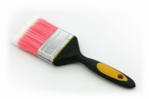 Pet Tapered Filaments TPR Handle Black and Yellow Paint Brush pictures & photos