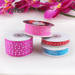 Polka DOT Printed Organza Ribbon pictures & photos