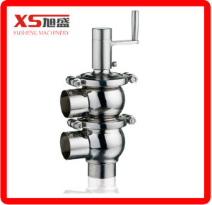 Sanitary Hygienic Stainless Steel Ss304 Ss316L Pneumatic Diverter Flow Valve pictures & photos