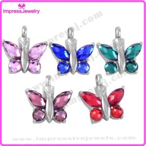 Crystal Butterfly Cremation Pendant Necklace for Ashes Keepsake (IJD8497) pictures & photos