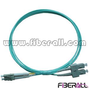Optical Fiber Patch Cord mm Om3 Duplex Aqua pictures & photos