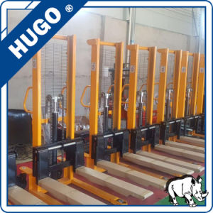 Hydraulic Hand Forklift Stacker with Foot Pedal for Lifting Manual Stacker pictures & photos