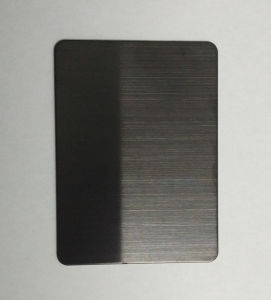 Hairline Black Decorative Color Stainless Steel Sheet for Building Material