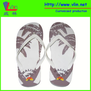 Simple EVA Flip Flop with Logo Printed on Insole pictures & photos