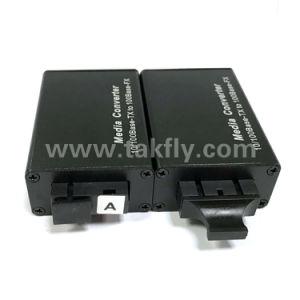 Sc/FC/St/SFP Optical 10/100m Mini Fiber Media Converter pictures & photos